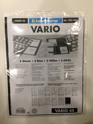 VARIO BLACK STAMP STOCKPAGES - FIVE SHEETS - FOUR STRIPS