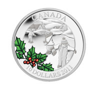 2011 $10 FINE SILVER COIN - LITTLE SKATERS - QUANTITY SOLD: 3663