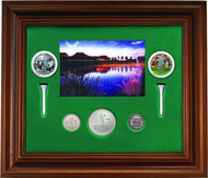 2004 $5 FINE SILVER COIN & 10-CENT COIN - FRAMED - 100TH ANNIVERSARY OF CANADIAN OPEN CHAMPIONSHIPS