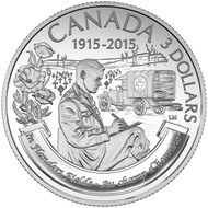 2015 $3 FINE SILVER COIN 100TH ANNIVERSARY OF IN FLANDERS FIELDS