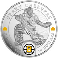 2015 $10 FINE SILVER COIN - ORIGINAL SIX™ GOALIES - GERRY CHEEVERS
