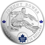 2015 $10 FINE SILVER COIN  - ORIGINAL SIX™ GOALIES - JOHNNY BOWER