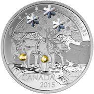 2015 $20 FINE SILVER COIN - HOLIDAY REINDEER