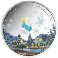 2016 $20 FINE SILVER COIN - MY ANGEL - VENTIAN GLASS