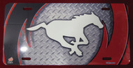 CALGARY STAMPEDERS AIRBRUSHED LICENCE PLATE