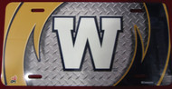 WINNIPEG BLUE BOMBERS AIRBRUSHED LICENCE PLATE