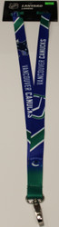 VANCOUVER CANUCKS NHL HOCKEY LANYARD - SUBLAMINATE KEY HOLDER - NEW WITH TAGS