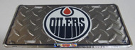 EDMONTON OILERS NHL DIAMOND CUT LOOK METAL LICENCE PLATE