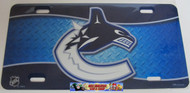 VANCOUVER CANUCKS NHL METAL AIRBRUSH LICENCE PLATES