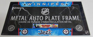 WINNIPEG JETS NHL METAL AUTO LICENSE PLATE FRAME / COVER - AIRBRUSHED