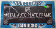 VANCOUVER CANUCKS NHL METAL AUTO LICENSE PLATE FRAME / COVER - AIRBRUSHED