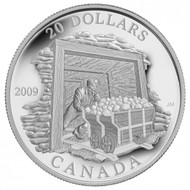 2009 $20 COAL MINING TRADE SILVER COIN - QUANTITY SOLD : 3349