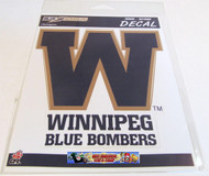 WINNIPEG BLUE BOMBERS LOGO STICKER / DECAL - CFL FOOTBALL - INDOOR / OUTDOOR 18CM X 14.5CM