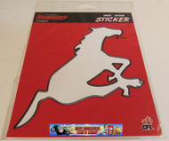 CALGARY STAMPEDERS  LOGO STICKER / DECAL - CFL FOOTBALL - INDOOR / OUTDOOR 18CM X 14.5CM