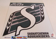 SASKATCHEWAN ROUGHRIDERS LOGO STICKER DECAL - CFL FOOTBALL - 20 CM X 20 CM