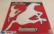 CALGARY STAMPEDERS LOGO STICKER DECAL 2-PACK - CFL FOOTBALL - 20 CM X 20 CM