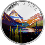 2016 $20 FINE SILVER COIN CANADIAN LANDSCAPE SERIES - THE LAKE