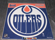 EDMONTON OILERS STICKER / DECAL - NHL HOCKEY - INDOOR / OUTDOOR - 20CM X 20CM