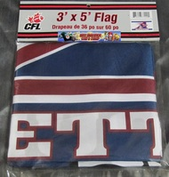 MONTREAL ALOUETTES CFL FOOTBALL POLYESTER FLAG  - 3 X 5 FEET - INDOOR/OUTDOOR - BRAND NEW