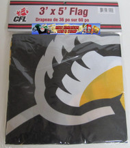 HAMILTION TIGER CATS CFL FOOTBALL POLYESTER FLAG  - 3 X 5 FEET - INDOOR/OUTDOOR - BRAND NEW