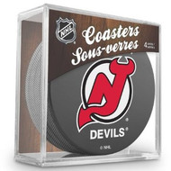 NEW JERSEY DEVILS NHL HOCKEY PUCK COASTERS - 4-PACK