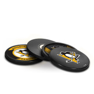 PITTSBURGH PENGUINS NHL HOCKEY PUCK COASTERS - 4-PACK