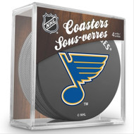 ST LOUIS BLUES NHL HOCKEY PUCK COASTERS - 4-PACK