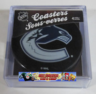 VANCOUVER CANUCKS NHL HOCKEY PUCK COASTERS - 4-PACK
