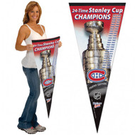 "MONTREAL CANADIENS STANLEY CUP PREMIUM PENNANT 17"" X 40"" - NHL HOCKEY"