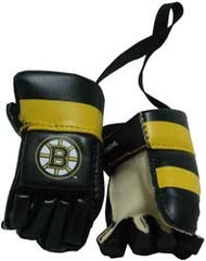 BOSTON BRUINS NHL HOCKEY MINI GLOVES - HANG FROM MIRROR