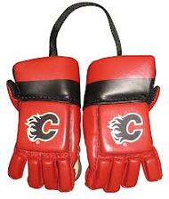 CALGARY FLAMES NHL HOCKEY MINI GLOVES - HANG FROM MIRROR
