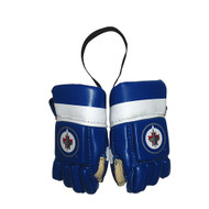 WINNIPEG JETS NHL HOCKEY MINI GLOVES - HANG FROM MIRROR