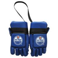 EDMONTON OILERS NHL HOCKEY MINI GLOVES - HANG FROM MIRROR
