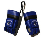VANCOUVER CANUCKS NHL HOCKEY MINI GLOVES - HANG FROM MIRROR