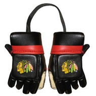 CHICAGO BLACKHAWKS NHL HOCKEY MINI GLOVES - HANG FROM MIRROR