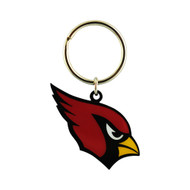 ARIZONA CARDINALS - NFL FOOTBALL - DIECUT METAL ENAMEL PAINT LOGO KEYCHAIN