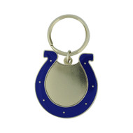 INDIANAPOLIS COLTS - NFL FOOTBALL - DIECUT METAL ENAMEL PAINT LOGO KEYCHAIN