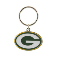 GREEN BAY PACKERS - NFL FOOTBALL - DIECUT METAL ENAMEL PAINT LOGO KEYCHAIN