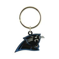 CAROLINA PANTHERS - NFL FOOTBALL - DIECUT METAL ENAMEL PAINT LOGO KEYCHAIN