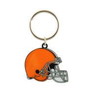 CLEVELAND BROWNS - NFL FOOTBALL - DIECUT METAL ENAMEL PAINT LOGO KEYCHAIN