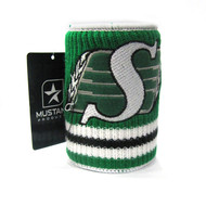 SASKATCHEWAN ROUGHRIDERS CFL WOOL KOOZIE - BEVERAGE INSULATOR