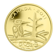 2011 1/25 OUNCE PURE GOLD COIN - BOREAL FOREST