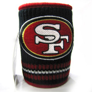SAN FRANCISCO 49'ERS NFL WOOL KOOZIE - BEVERAGE INSULATOR
