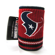 HOUSTON TEXANS NFL WOOL KOOZIE - BEVERAGE INSULATOR