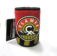 CALGARY FLAMES 3RD RUBBERIZED LOGO NHL WOOL KOOZIE - BEVERAGE INSULATOR