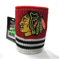 CHICAGO BLACKHAWKS  NHL WOOL KOOZIE - BEVERAGE INSULATOR