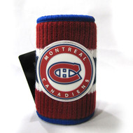 MONTREAL CANADIENS RUBBERIZED LOGO NHL WOOL KOOZIE - BEVERAGE INSULATOR