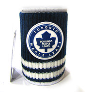 TORONTO MAPLE LEAFS RUBBERIZED LOGO NHL WOOL KOOZIE - BEVERAGE INSULATOR