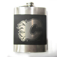 CALGARY FLAMES NHL LASER ENGRAVED STAINLESS STEEL FLASK