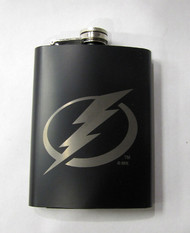 TAMPA BAY LIGHTNING NHL LASER ENGRAVED STAINLESS STEEL FLASK